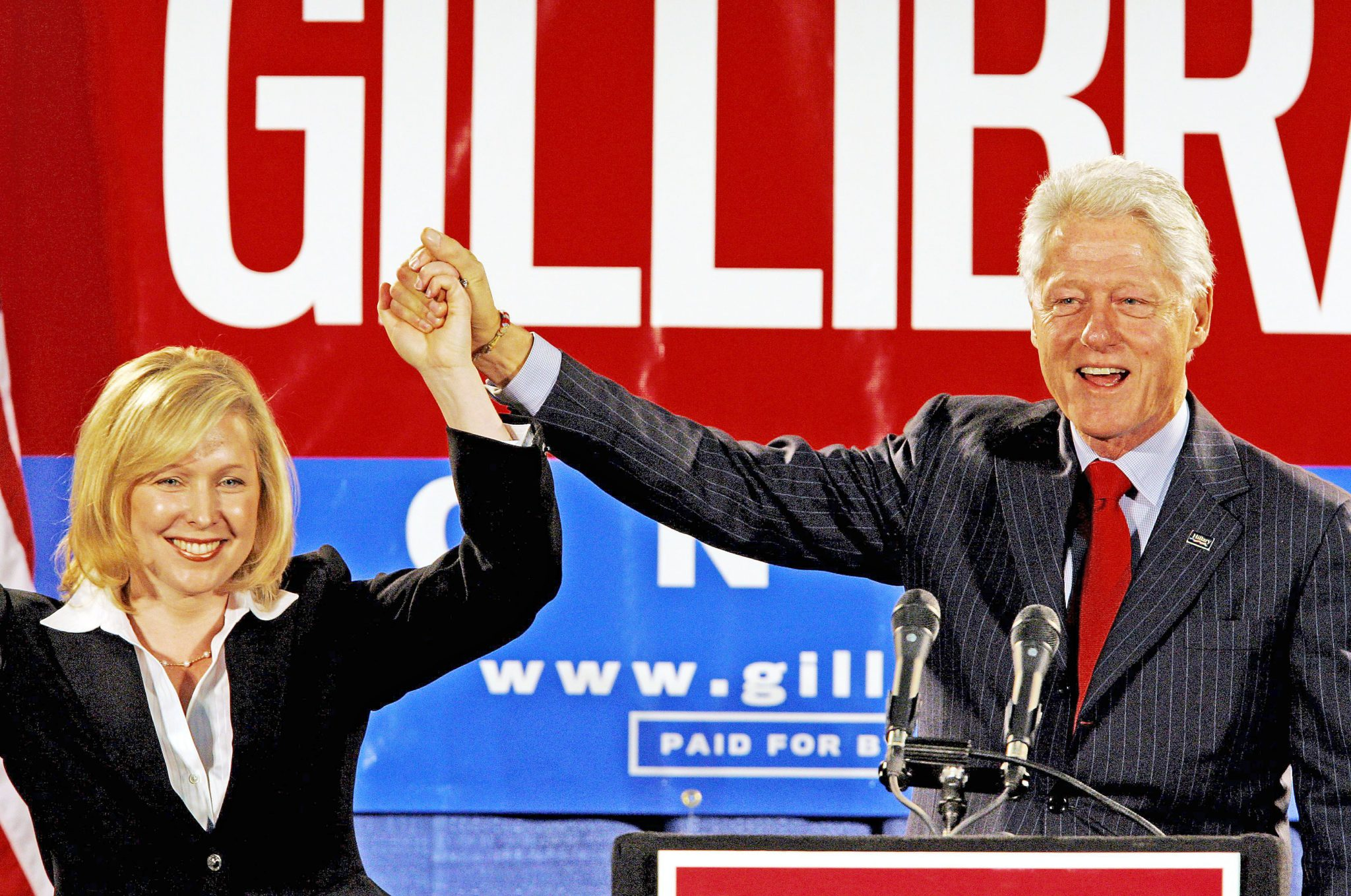 Congresswoman Gillibrand campaigning for re-election last year with President Bill Clinton.