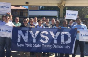 NYSYD Campaigning for Sen. George Latimer
