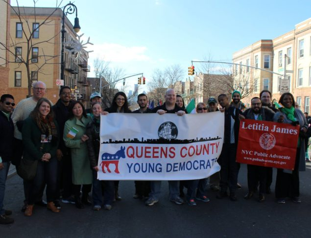 QCYD Marches w/ Rep. Joe Crowley at St. Pat's for All