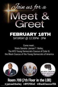 Meet & Greet with State Senator Jamaal T. Bailey