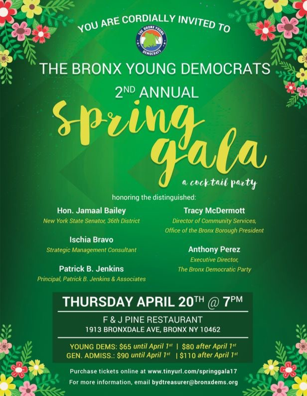 Bronx Young Democrats 2nd Annual Spring Gala