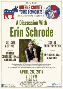 QCYD's Night with Erin Schrode: Environment, Activism and Policy