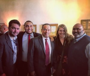 NYSYD Board Members (old and new) with DNC Deputy Chair Keith Ellison