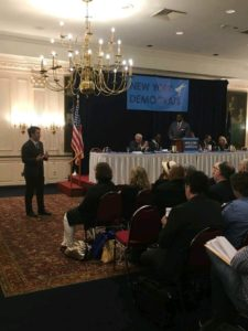 President Patrick Jordan speaking to the New York State Democratic State Committee