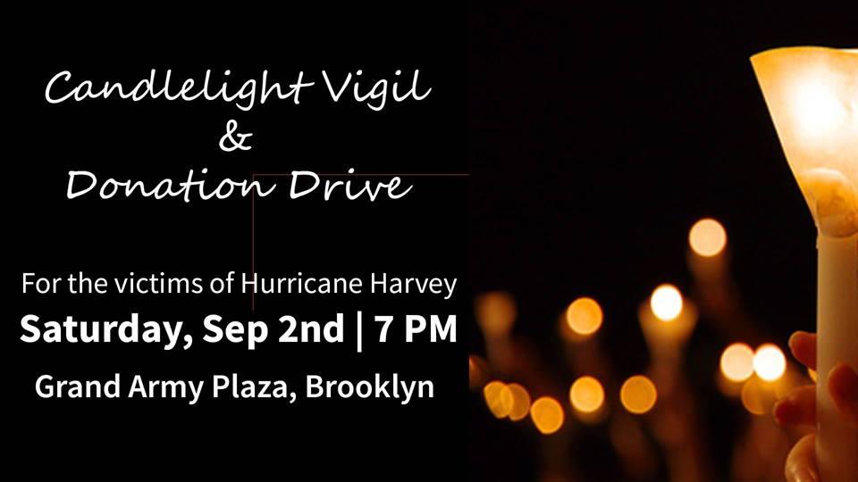 Hurricane Harvey Candlelight Vigil & Donation Drive