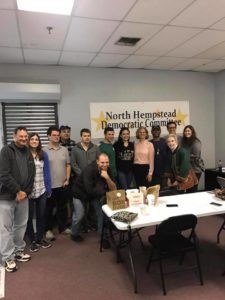 Members of NYSYD with Nassau County Executive Laura Curran before canvassing