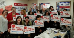 Members of NYSYD with Councilman Paul Vallone after canvassing