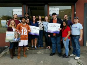 Members of NYSYD with Councilwoman Elizabeth Crowley after canvassing