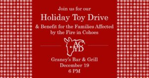 Toy Drive & Benefit for the Families Affected by the Cohoes Fire