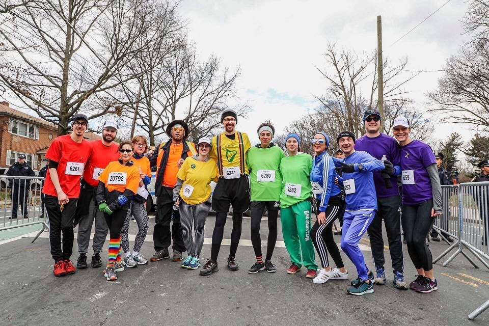 Rainbow Run for LGBTQ inclusion at Staten Island St. Patrick's Parade led by Young Dems
